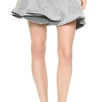 Jay Ahr Coated Lattice Miniskirt