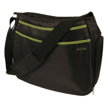 Shoulder Diaper Bag - Hobo Black/Avocado
