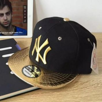 NY Performance Max Side Hit Baseball Cap Golf Hat Relaxed Fit Golden