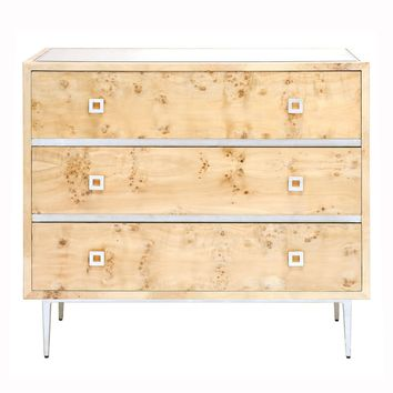 Worlds Away Hudson 3 Drawer Chest