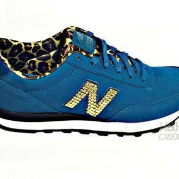 DCCK1IN new balance quot 501 quot sneaker with hand placed swarovski crystal detail on outside logo 39 s