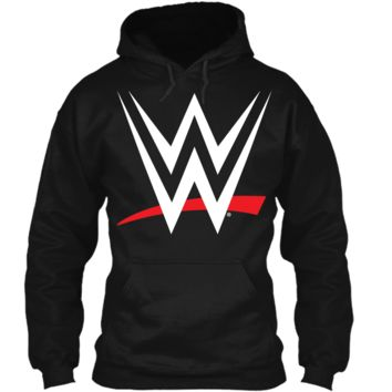 WWE Logo Graphic  Pullover Hoodie 8 oz