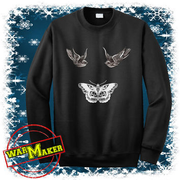 harry styles tattoo sweatshirt one direction shirt harry styles sweater WMFLY-3S