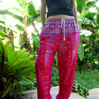 Pink Baggy Trousers Aladdin Alibaba Harem Yoga Pants Hippie Festival Travel