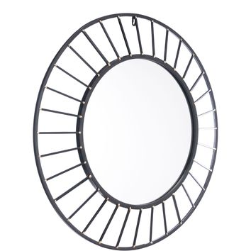 Black Sunburst Wall Mirror