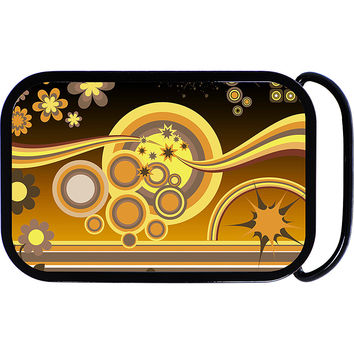Earth tones Funky Floral Collage Belt Buckle