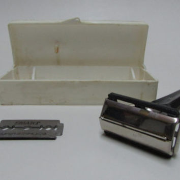 Vintage Opening Razor With Replaceable Blades, Old Manual Shaver, Men's Accessories for Hygiene, Gift For Man