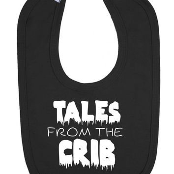 Tales From The Crib Old Horror Movie Poster Parody Halloween Baby Velcro Bib