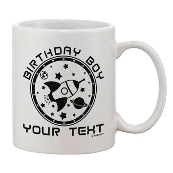 Personalized Birthday Boy Space with Customizable Name Printed 11oz Coffee Mug