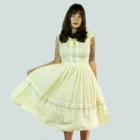 Vintage 1960s Yellow Sundress