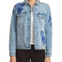 BLANKNYCEmbroidered Denim Jacket