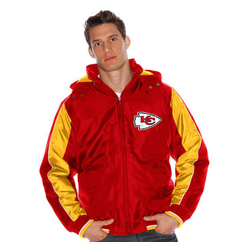 Men's Kansas City Chiefs G-III Sports by Carl Banks Red Strong Safety Hooded Full-Zip Jacket