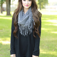 Let's Settle Down Scarf (Grey)