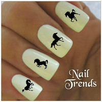 Horse Nail Decal 20  Vinyl Adhesive Decals Nail Tattoos  Nail Art