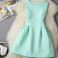 Round-neck Sleeveless Shaped Mini Princess Hot Sale Straight Hair One Piece Dress [6044832641]