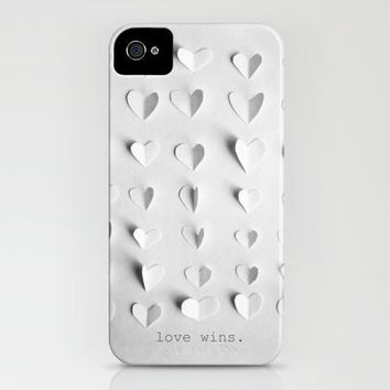 love wins. iPhone Case by Marianne LoMonaco | Society6