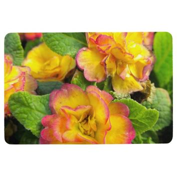 Pink and Yellow Flowers Floor Mat