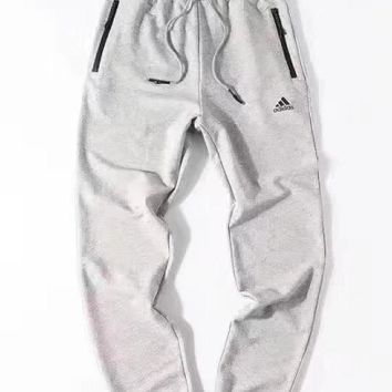 Adidas new zipper small ring trousers