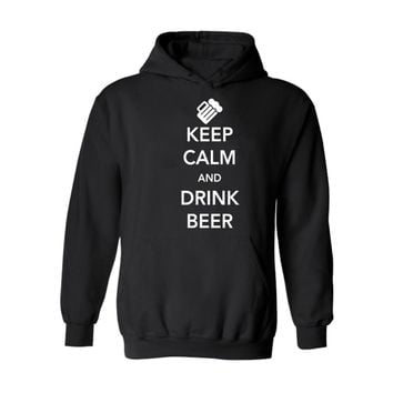 Keep Calm and Drink Beer Hoodies - Men's Hoodie Sweatshirts Sweater