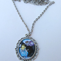 Alice in Wonderland inspired 28x38mm Pendant by KristaRaeArt