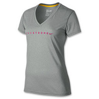 Women's Nike LIVESTRONG Legend V-Neck T-Shirt