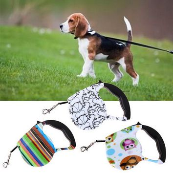 5M Retractable Length Nylon Leash Material Automatic Retractable Pet Dog/Cat Puppy Traction Rope Walking Lead
