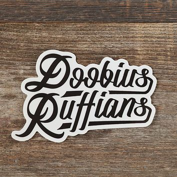 Doobius Ruffians Black Sticker