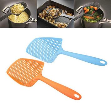 Scoop Colander Nylon Spoon Strainer Kitchen Tool Cooking Utensils ShovelsTool Silicone Strainer Drain Noodles Pasta Scoop Basket