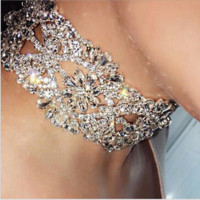 Fashionable flower diamond necklace - selling the new diamond necklace