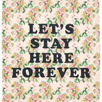 Let's Stay Here Forever Beach Sheet by Bando