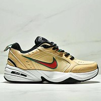 NIKE Air M2K TEKNO Fashion New Embroidery Hook Women Men Sports Running Shoes Yellow