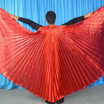 Angle hot selling wings Egyptian Egypt Belly dance costume Isis wings dance wear (not stick) 11 colors
