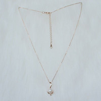 Pearl pendant rose gold necklace,Charm Necklace,Tiny Necklace,Dainty Necklace,Rose Gold Necklace,Everyday Necklace,her necklace,gift for her