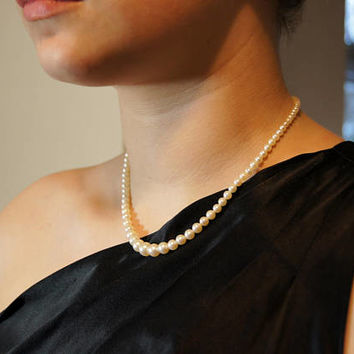 Classic Cultured Akoya Pearl Choker Necklace