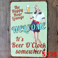 Beer Retro Tin Signs For Bedroom Art Poster Wall Decor Craft Picture