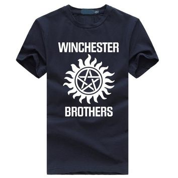 new fashion 2017 summer Supernatural tops brand clothing hipster t shirts winchester brothers harajuku streetwear funny t-shirt