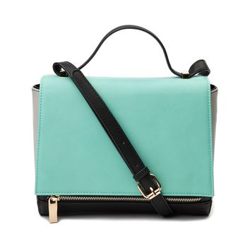 Womens Color Block Clutch Handbag