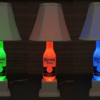 Corona Beer Color Changing RGB LED Remote Control Eco Bottle Lamp~Bodacious Bottles~
