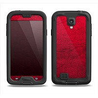 The Rich Red Leather Samsung Galaxy S4 LifeProof Fre Case Skin Set