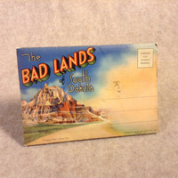 Vintage Post Card Portfolio Colored Views South Dakota's Bad Lands, 18 Scenes from 1934