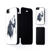 Wolf Song 3 Black Flip Case for Apple iPhone 5 / 5s by Balazs Solti