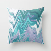 Ripple Waves Throw Pillow by sm0w
