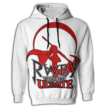 Ryskeco 3D RWBY Mens Hooded Sweatshirt With Drawstring Pocket Cozy Pullover Hoodies