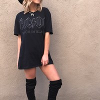 AC/DC T Shirt Dress