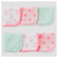 Baby Girls' 6pk Owl Washcloth Set - Just One You™ Made by Carter's® Pink