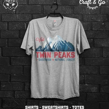 VISIT TWIN PEAKS Shirt (agent cooper black lodge fire walk with me horror log lady owl)