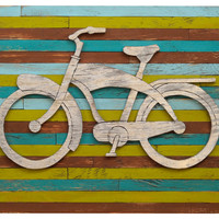 Pallet Beach Bike Wall Art, Signs