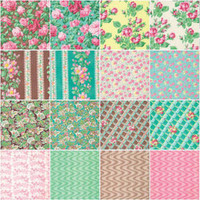 "Cotton Fabric, Snapshot - Verna Mosquera,  5""X5"" Charm Pack,  30 pcs, FreeSpirit Fabrics, Quilt Fabric"