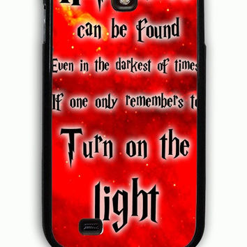 Samsung Galaxy S4 Case - Hard (PC) Cover with Harry Potter Quotes Happiness Can be Found Even in The Darkest of Times If One Remembers Plastic Case Design