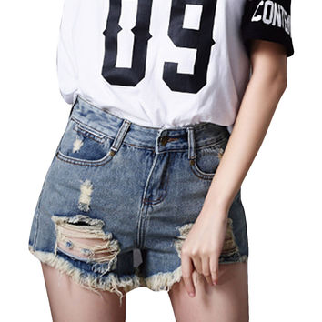 Ripped Women Casual Sexy Shorts